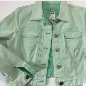 Chico's Platinum Crop Denim Jacket